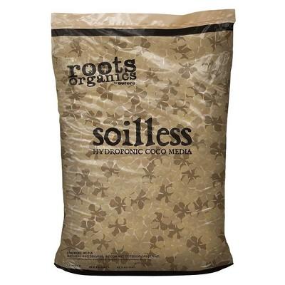 Roots Organics ROS Soilless Hydroponic Gardening Coco Fiber Media Mix Premium Growing Mix for Plants, 1.5 cu ft
