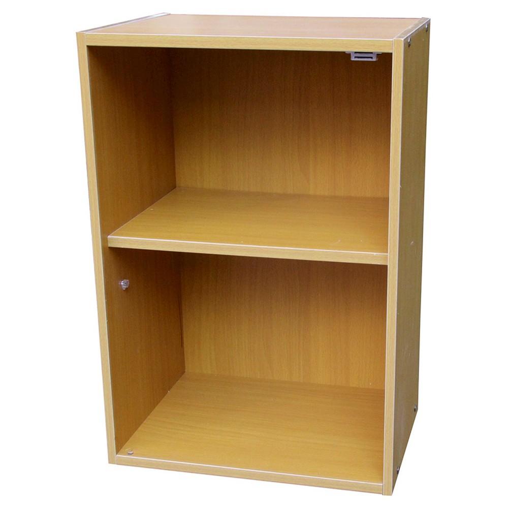 "Image of ""23.5"""" 2 Tier Adjustable Book Shelf Tan Wood - Ore International"""
