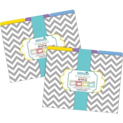 File Folders Multi-Design 24 per Set Letter Size Chevron Beautiful - Barker Creek