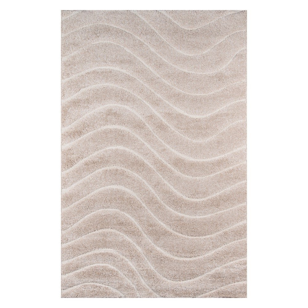 2'X3' Wave Loomed Accent Rug Beige - Momeni
