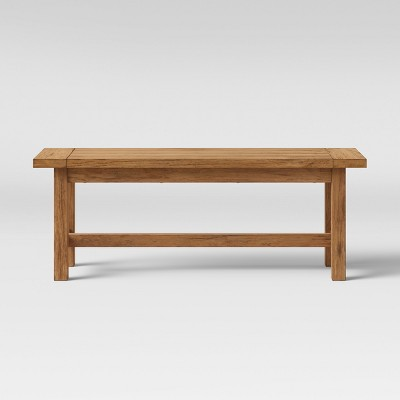 49  Gilford Rustic Dining Bench Rustic Brown - Threshold™