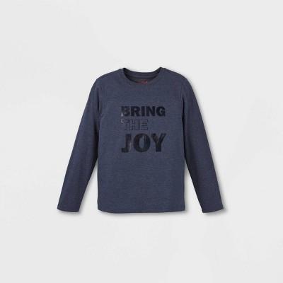 Boys' 'Bring The Joy' Graphic Long Sleeve T-Shirt - Cat & Jack™ Navy XXL