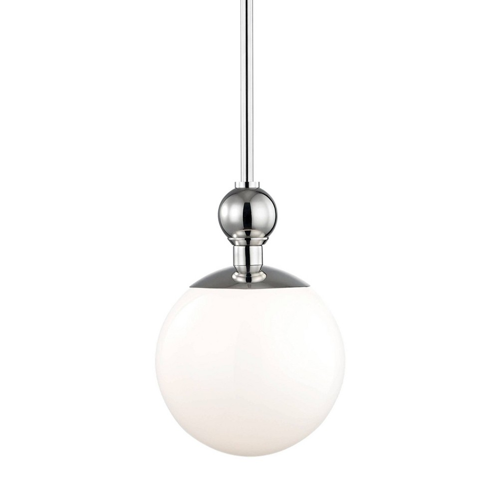 Daphne 1-Light Small Pendant Chandelier Brushed Nickel - Mitzi by Hudson Valley Discounts