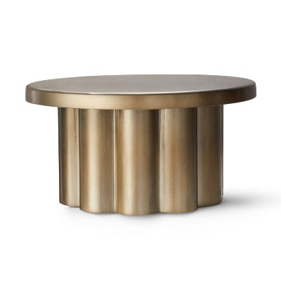 Metal Scalloped Plant Stand Gold - Hilton Carter for Target