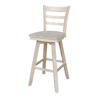 Emily Barstool with Swivel and Auto Return Unfinished - International Concepts