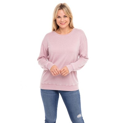 Sebby Collection Women's Basic Soft Terry Sweatshirt