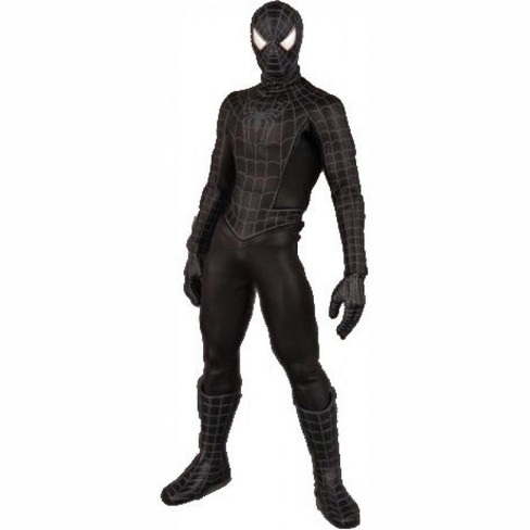 Spider-Man 3 Real Action Heroes Black Costume Spider-Man Deluxe Action Figure - image 1 of 2