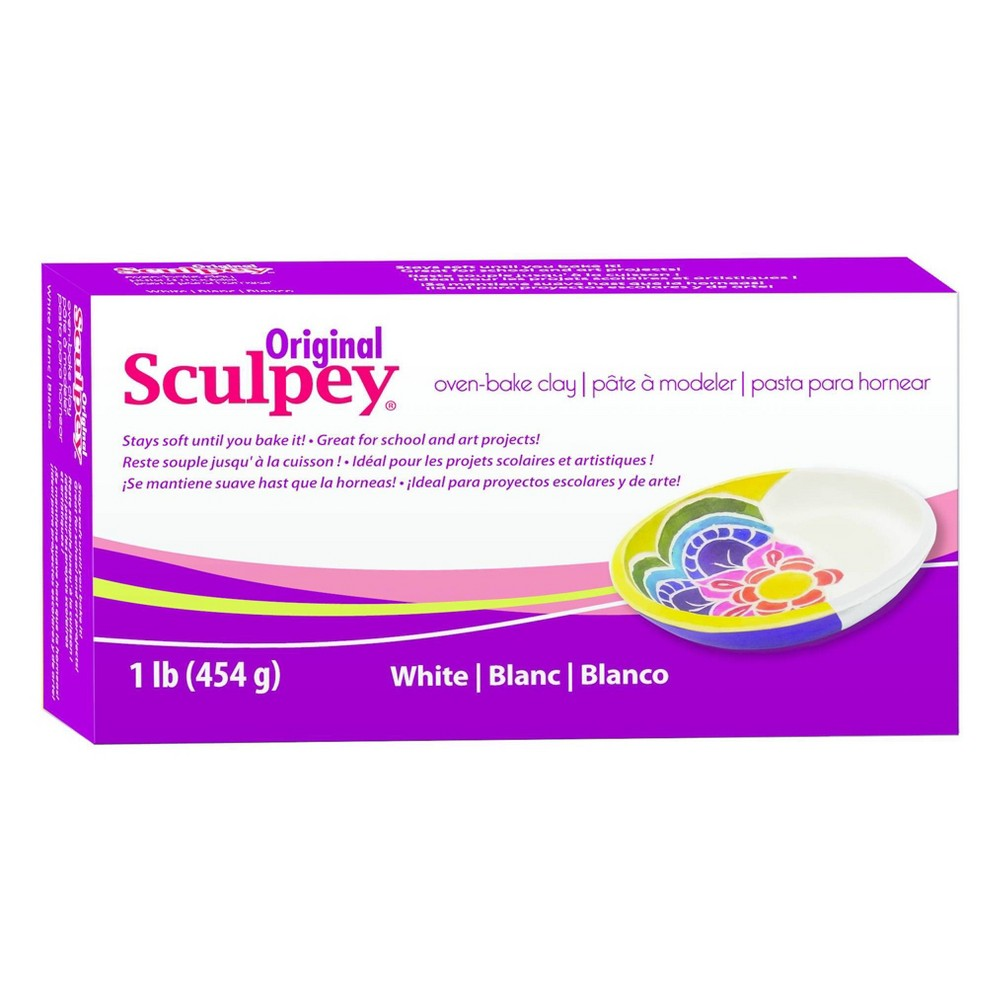 Image of Sculpy Oven Bake Clay - White
