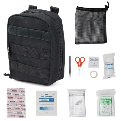 Osage River Compact First Aid Kit, Individual Pouch with First Aid Supplies, MOLLE Webbing
