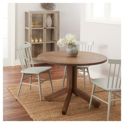 Newfield 42 Round Farmhouse Dining Table Gray Wash Threshold