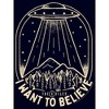 Junior's The X-Files Want to Believe UFO T-Shirt - image 2 of 2
