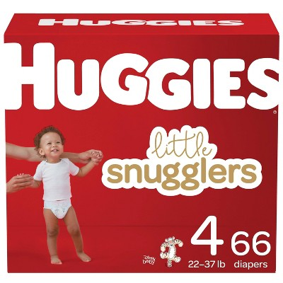 Huggies Little Snugglers Diapers Super Pack - Size 4 (66ct)