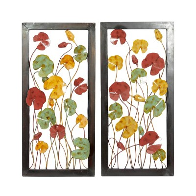 Set of 2 10 Decorative Colored Ironwall Plaque - Olivia & May