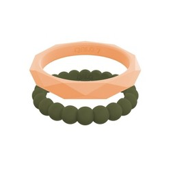 QALO Women's Stackable Silicone Ring Collection I
