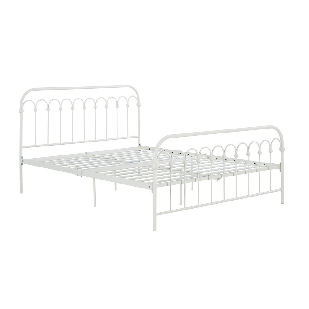 Image of Full Bright Pop Metal Bed White - Novogratz
