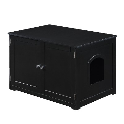 Merry Products Kitty Litter Loo Bench Cat Litter - Black