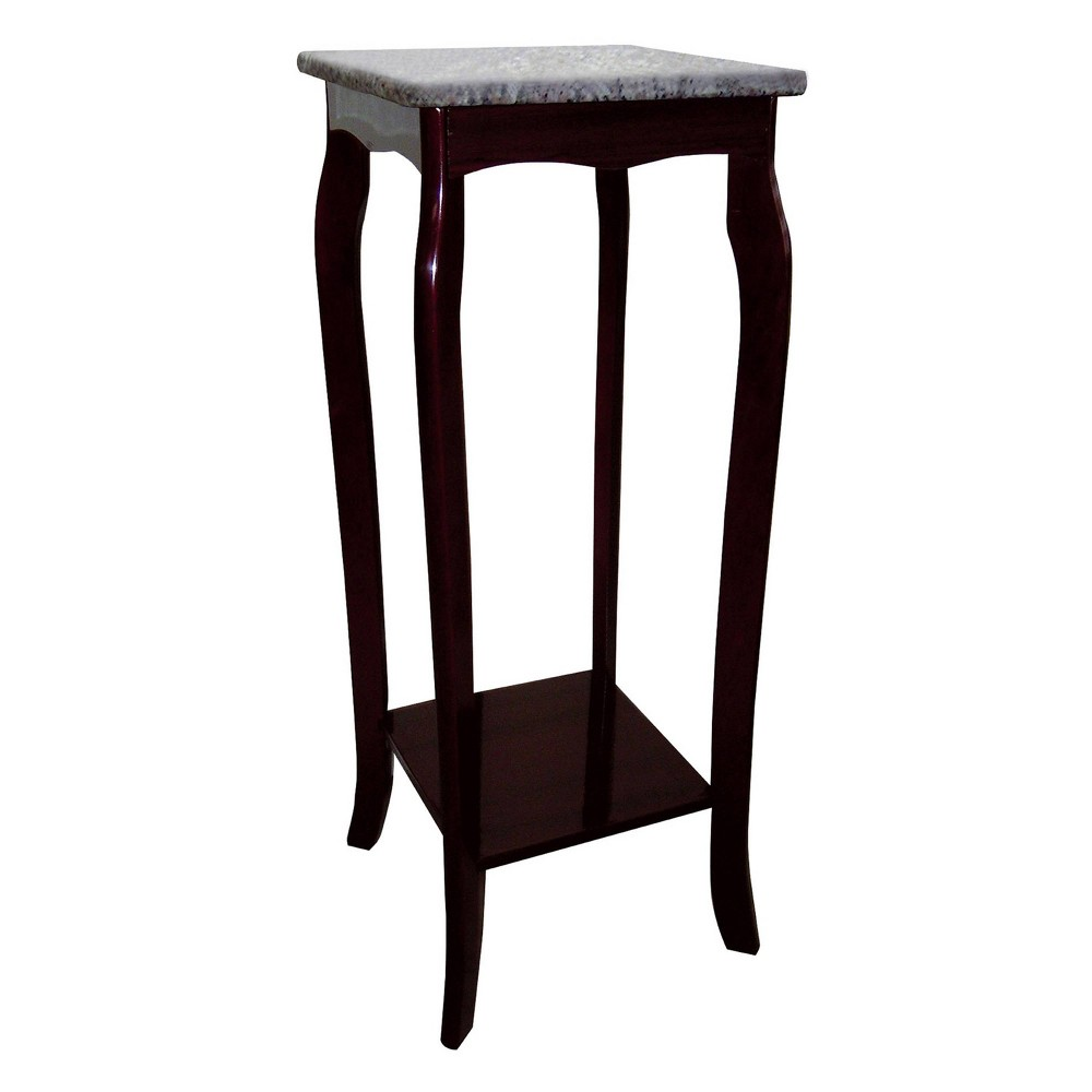 Phone Table with Marble Top Cherry (Red) - Ore International