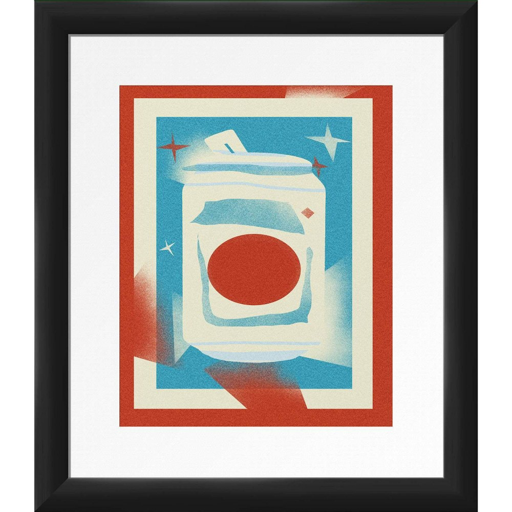 13 34 X 15 34 Red Style Framed Wall Art Black Ptm Images