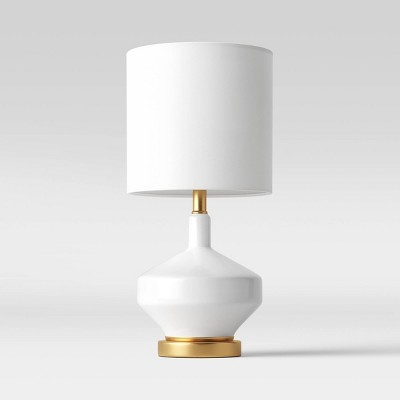 Large Assembled Genie Glass Table Lamp (Includes LED Light Bulb) White - Project 62™