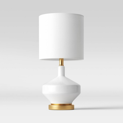 Large Assembled Genie Glass Table Lamp (Includes LED Light Bulb) White - Project 62™ - image 1 of 3