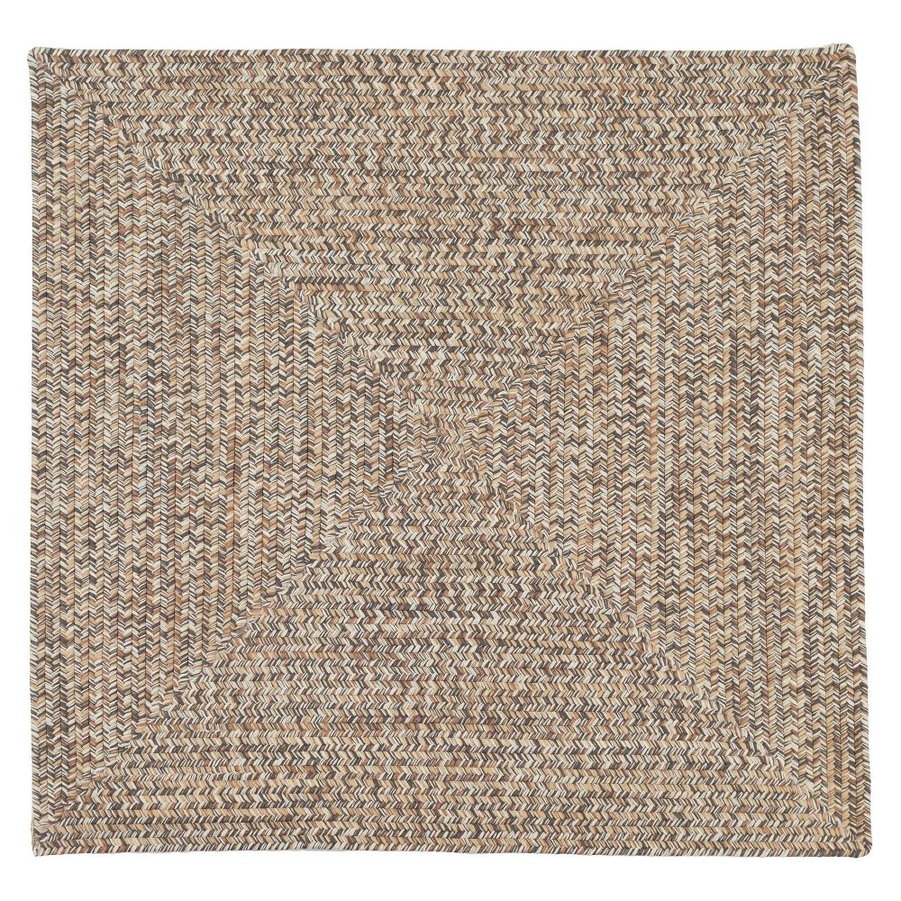 8 39 X8 39 Forest Tweed Braided Area Rug Light Brown Colonial Mills