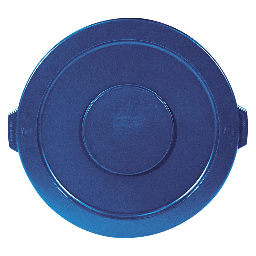 Image of Rubbermaid Trash Can Lid, Blue
