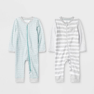 Baby 2pk Llama Love Rompers - Cloud Island™ 3-6M