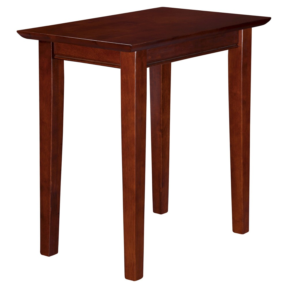 Shaker Chair Side Table - Walnut - Atlantic Furniture, Brown