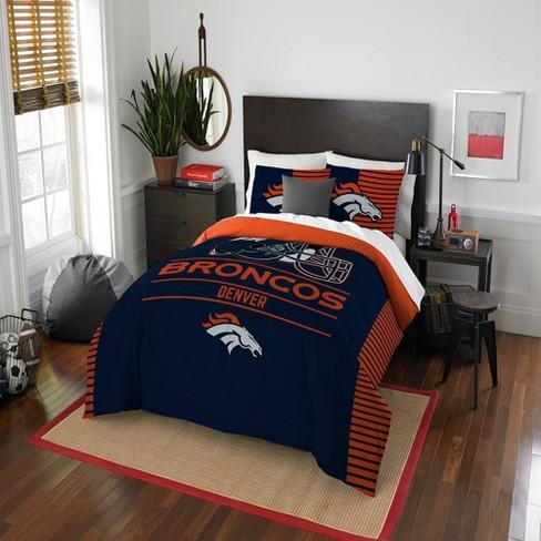 Nfl Denver Broncos Northwest Draft Full, Denver Broncos Bedding Queen
