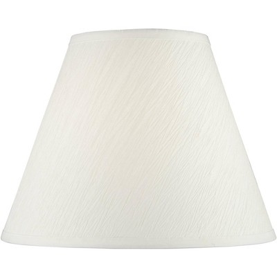 Springcrest White Crepe Paper Empire Lamp Shade 7x14x11 (Spider)