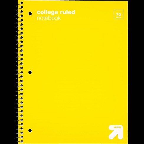 College Ruled 1 Subject Flexible Plastic Cover Spiral Notebook - Up&Up™  - image 1 of 2