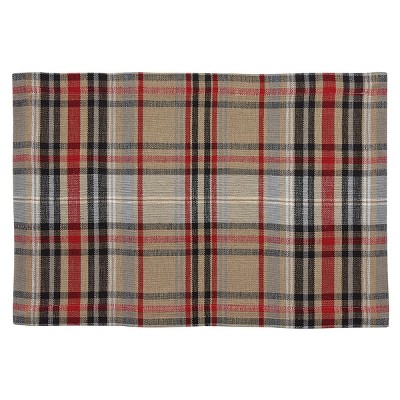 Park Designs Bear Country Plaid Placemat Set - Red
