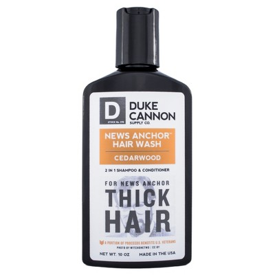 Duke Cannon News Anchor 2-in-1 Hair Wash Cedarwood - 10oz