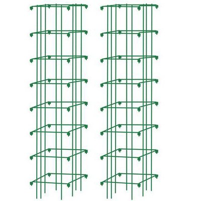 Square Heavy Gauge Extra Tall Tomato Cage, Set of 2 - Gardener's Supply Company