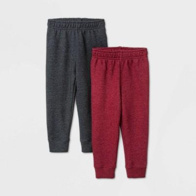 Toddler Boys' 2pk Fleece Pull-On Pants - Cat & Jack™ Gray