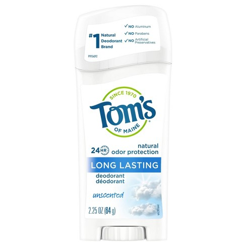 Tom's of Maine Long Lasting Unscented Natural Deodorant Stick - 2.25oz - image 1 of 4