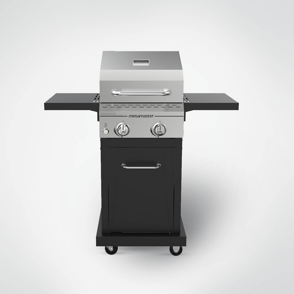 Megamaster 2-Burner Stainless Steel Gas Grill 720-0864MA – Black/Silver 54357582