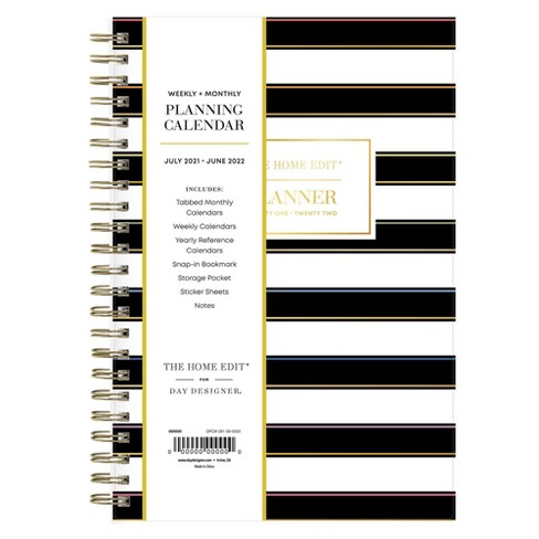 """2021-22 Academic Planner 5"""" x 8"""" Flexible Cover Weekly/Monthly Wirebound Roy G Biv - The Home Edit - image 1 of 4"""