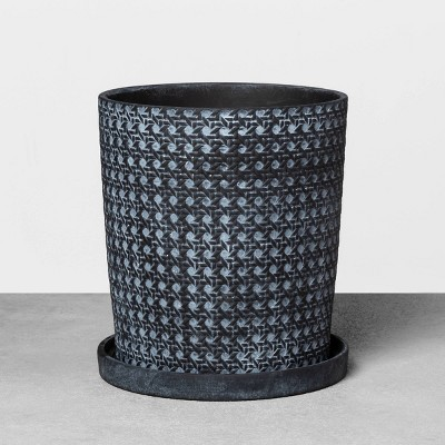 12  Caning Planter Black - Hearth & Hand™ with Magnolia