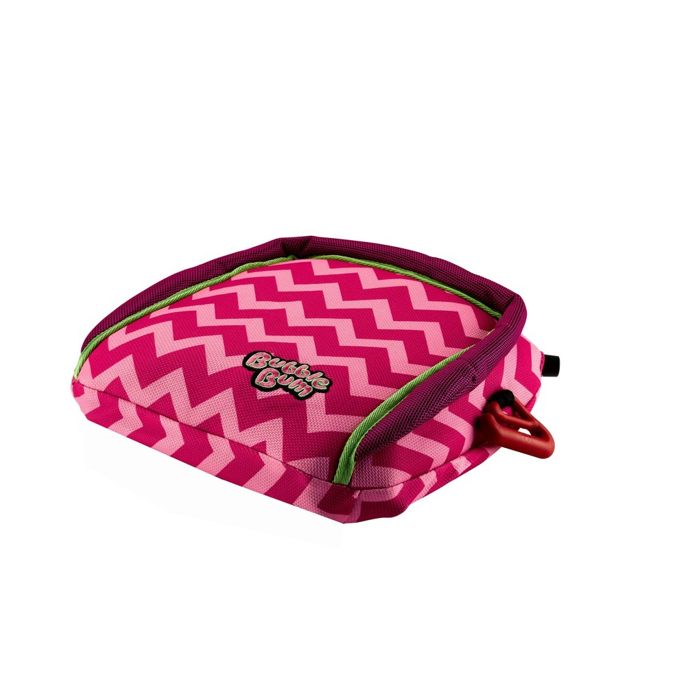 Image of BubbleBum Backless Booster Car Seat - Pink Chevron