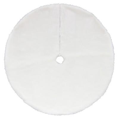 "Northlight 48"" White Plush Solid Round Christmas Tree Skirt"