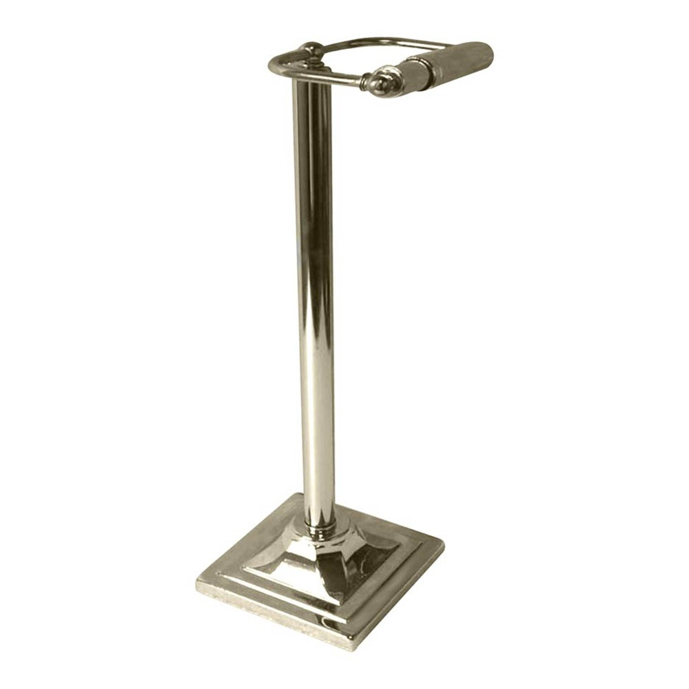 Image of Freestanding Toilet Tissue Holder Brushed Nickel - Nu Steel