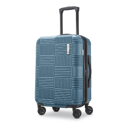 American Tourister 20  Checkered Hardside Carry On Suitcase - Teal