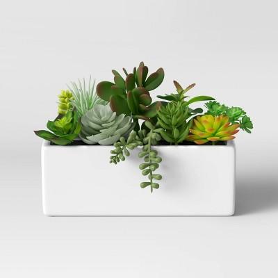 """7"""" x 5.5"""" Artificial Succulent Plant Arrangement in Pot - Project 62™"""