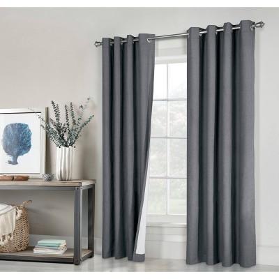 Set of 2 Suprema Grommet Top Blackout Curtain Panels - Thermaplus