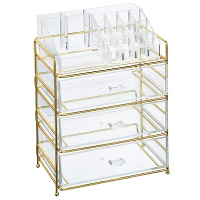 mDesign Plastic Cosmetic Storage Organizer Caddy