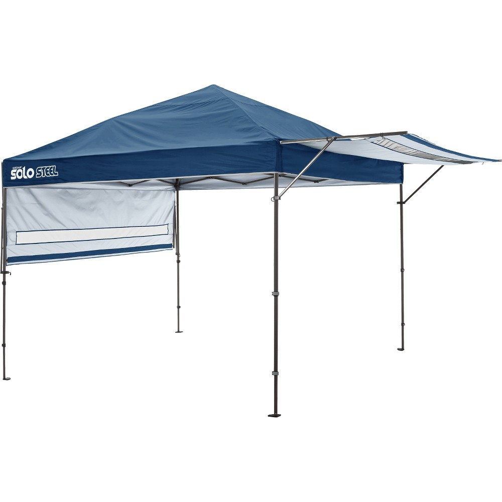 Quik Shade Solo Steel 170 10 x 17' Straight Leg Canopy - Midnight Blue
