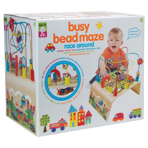 ALEX Toys ALEX Jr. Busy Bead Maze Race Around Wooden Activity Center - image 1 of 4