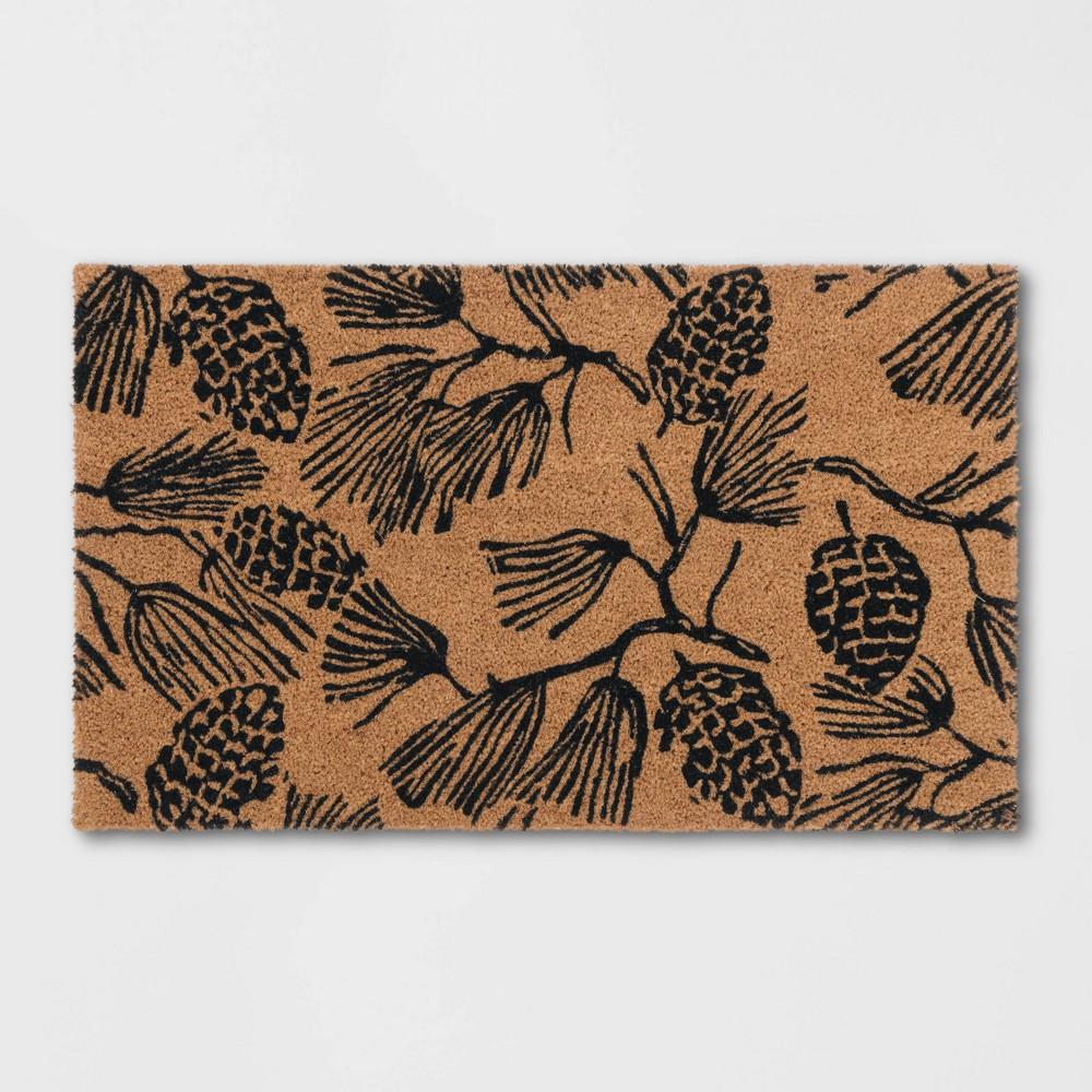 Pine Coir Inline Doormat Tan/Black