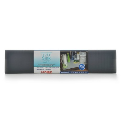 "Con-Tact 24""x4ft Horizontal Under Sink Mat Gray"